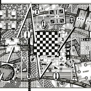 Games of old: Black and White art, Games like Parcheesi, Pictionary, Chinese checkers, Aggravation, Checkers, Chess, Monopoly, Backgammon