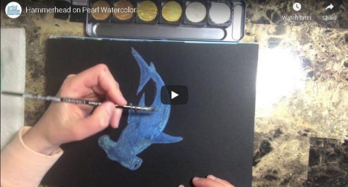 Demo Video – Hammerhead on Pearl Watercolor